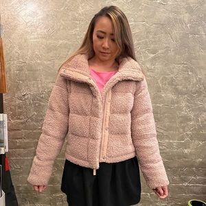 Abercrombie&Fitch A&F Pink Sherpa winter jacket XS